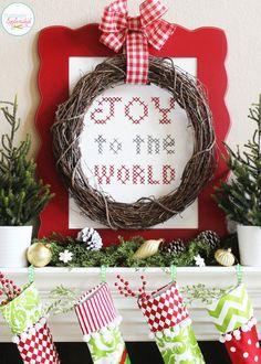 Traditional Christmas Mantel