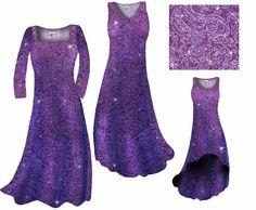 NEW!! Purple Paisley Glittery Print - Available in Large to 9x - skirts, dresses, shirts, pants, jackets - http://sanctuarie.com/nepupaglslpr.html