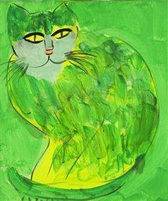 Beautiful Green Cat - Walasse Ting