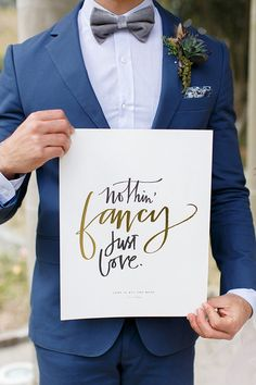 19 Creative Ways to Use Quotes in Your Wedding Decor via Brit + Co