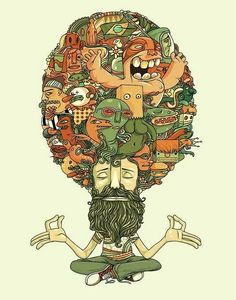 Illustration of the power hippie. Art And Illustration, Illustrations Posters, Images Graffiti, Pop Art, Arte Pop, Psychedelic Art, Doodle Art, Vector Art, Art Drawings