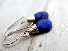 Lapis Lazuli Earrings In Gold