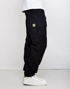carhartt wip regular cargo pant black