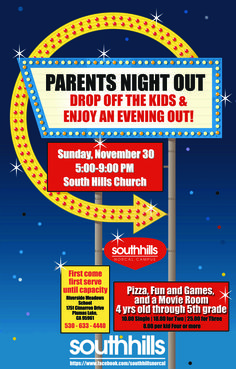 Parents Night Out! #Colourful #Flyer #Poster