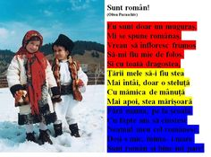 Sunt român! 1 Decembrie, Early Education, Romania, Kindergarten, Poems, School, Moldova, Pictures, Traditional