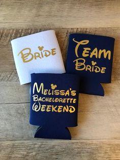 Disney Team Bride Can Coolers Bachelorette Party Disney