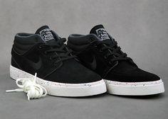 Nike SB Janoski Mid Speckled Sole   Black / Black   Photo Blue   Ivory