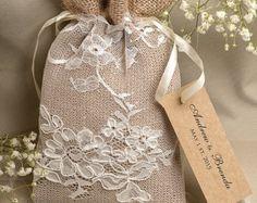 Custom listing (20) Natural Rustic Burlap Wedding Favor Bag , Natural Birch Bark Wedding Favor, County Style Bag, Custom Tag