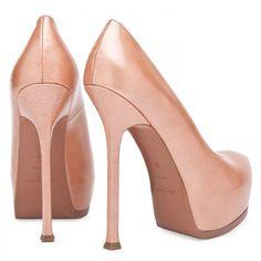 Yves Saint Laurent Tribtoo high heel patent pumps ($865) ❤ liked on Polyvore