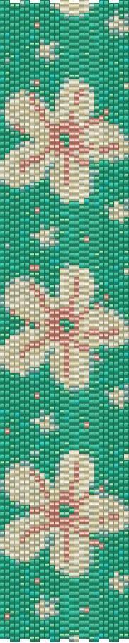 Peyote Bracelet Beading Pattern Daisies by GoldenValleyCraft