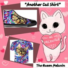 """Especially for the you from #QueenMelanin  introducing """"ANOTHER CAT SHIRT  """" #valentines #valentineday #sneakers #hoodies #tshirtslovers #sneakergame  #evolutionoftheblackgurl  LINK BELOW: https://www.rageon.com/a/users/TheQueenMelanin #lovecats #loveanimals #lovecatshirt #love #loveanimalshirts"""