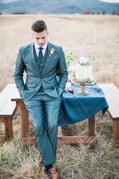 Groom portrait #blue