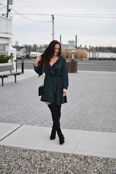 Holiday Style | Fit & Flare Dress, Over the knee b…