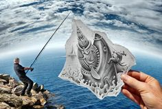 Ben Heine's Pencil vs. Camera #art View more: http://threadsence.com/Blog/pencil-it-in/#?utm_source=pinterest_medium=sm_content=pencilitin_campaign=pin_blog