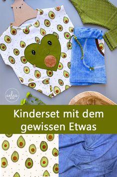 Aelas ist die Quelle für Nähinspiration! Durch eine gewagte Applikation hat sie diesen verrückten Bio-Jersey von Lillestoff und die Kombination mit unserem Looke like Jeans, sowie der gepunkteten Leggins hat sie ein Kinderset mit dem gewissen Etwas genäht. Baby Kind, Outfit, Jeans, Sewing For Kids, Fabrics, Sewing Patterns, Outfits, Kleding