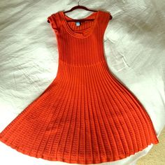 BCBG red knit fit and flare dress BCBG red knit fit and flare dress. BCBGMaxAzria Dresses
