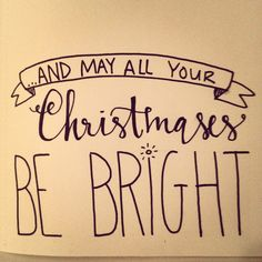 A Little Christmas Lettering | crazy beautiful