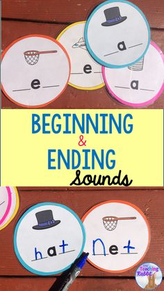 Use these Beginning & Ending Sounds CVC cards at your Word Work Literacy Center. Laminate them and have your first or second grade students use them with dry erase markers to make words by adding the beginning and ending sounds.