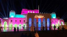 The Royal Oprah house at night Muscat Oman