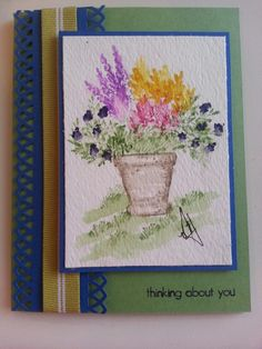 Cards byMichele;   Watercolor stamping using Art Impressions watercolor series stamps