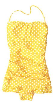Swimsuit Trend: The Retro Suit  omg!  who needs a yellow polka-dot bikini?