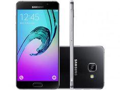 "Smartphone Samsung Galaxy A5 2016 Duos 16GB Preto - Dual Chip 4G Câm. 13MP + Selfie 5MP Tela 5.2"""