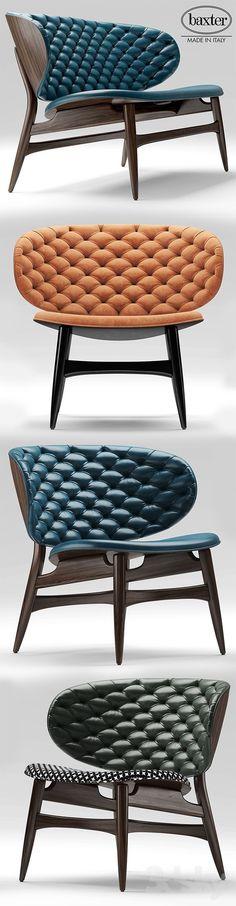 models: Sofa - Sofa and chair baxter DALMA Unique Furniture, Furniture Design, Chair Design Wooden, Banquettes, Sofa Chair, Modern Chairs, Dining Chairs, Wood Chairs, Interior Design