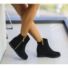 Ghete Dama Negre Cu Platforma Cod: 296P Booty, Shoes, Fashion, Moda, Swag, Zapatos, Shoes Outlet, Fashion Styles, Shoe