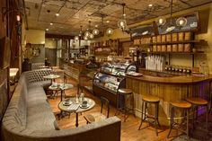 How do you design a café and coffee house with a sense of history in a neighborhood that has little of its own