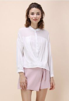 Frolicsome Day Shirt in White
