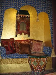 El Morocco Inn & Spa: Sitting space in our room Spa Interior, California, Spa Day, Hot Springs, Moroccan, Trip Advisor, The Good Place, Relax, Interiors
