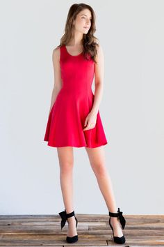 Lillie Solid Dress francesca's. What I'm wearing this Valentine's day!