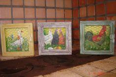 trio de quadrinhos galinhas