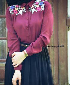 style and hijab resmi Islamic Fashion, Muslim Fashion, Modest Fashion, Fashion Dresses, Hijab Dress Party, Hijab Outfit, Moda Hijab, Hijab Look, Hijab Chic