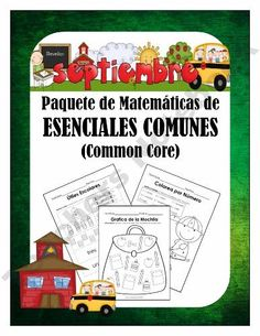 Kindergarten Math for September in Spanish - Matematicas de Septiembre-in-Spanish-Matematicas-de-Septiembre product from NicoleAndEliceo on TeachersNotebook.com
