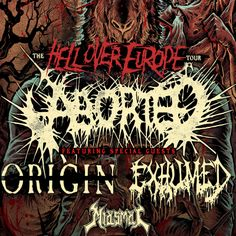 ABORTED - ORIGIN - EXHUMED- MIASMAL @ Le Divan du Monde PARIS 12/12/2014