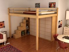 Find out all of the information about the Cinius product: loft bed / double / contemporary / wooden LETTO A SOPPALCO YEN. Contact a supplier or the parent company directly to get a quote or to find out a price or your closest point of sale. Adult Loft Bed, Adult Bunk Beds, Kids Bunk Beds, Bunk Beds With Stairs, Cool Bunk Beds, Bed Stairs, Loft Spaces, Small Spaces, Double Loft Beds