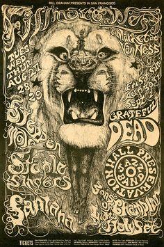 1968 concert poster by Lee Conklin #VintageTreasures #VintagePosters