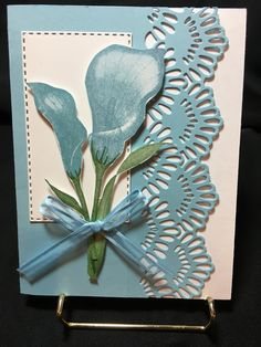 Use dark CS for the card base, add white pieces for behind the flowers and inside, use Altenew scalloped edge die Hand Made Greeting Cards, Making Greeting Cards, Butterfly Cards, Flower Cards, Stampin Up Anleitung, Theme Nature, Stamping Up Cards, Get Well Cards, Handmade Birthday Cards
