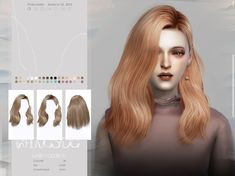 wingssims' WINGS-TO0310 All Hairstyles, Wedding Hairstyles, Female Hairstyles, Medium Hair Styles, Short Hair Styles, Free Sims 4, Download Hair, Female Shorts, Sims Hair