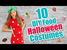 Here are my 10 DIY Halloween costumes that were inspired by food! Today, I'll show you these 10 easy DIY craft ideas for DIY Halloween costumes and props, ma. Fruit Costumes, Candy Costumes, Diy Costumes, Costume Ideas, Diy Halloween Costumes For Kids, Halloween Ideas, Inspired, Hairstyles, Gumball Machine