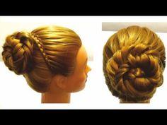 Праздничная прическа. Плетение волос. Holiday hairstyle - YouTube