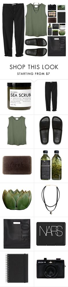 """'"" by oramivedi ❤ liked on Polyvore featuring Fig+Yarrow, GG 750, Melissa, Fresh, AMBRE, 3.1 Phillip Lim, NARS Cosmetics, Muji and Holga"