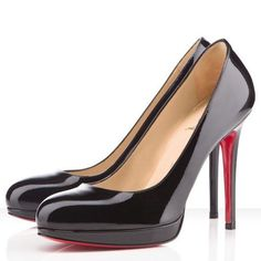 Christian Louboutin New Simple 120mm Patent Leather Black
