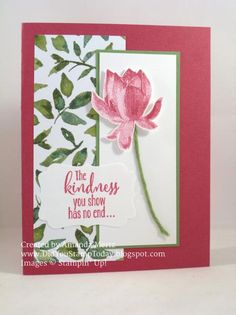 For more details please see my blog: http://didyoustamptoday.blogspot.com/2015/03/lotus-blossom-in-rose-red.html  Thanks for looking!  Did you stamp today?