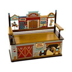 Wild West Toy Bench