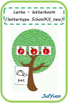 ©JufYvon: Lente - letterboom lettertype SchoolKX_new