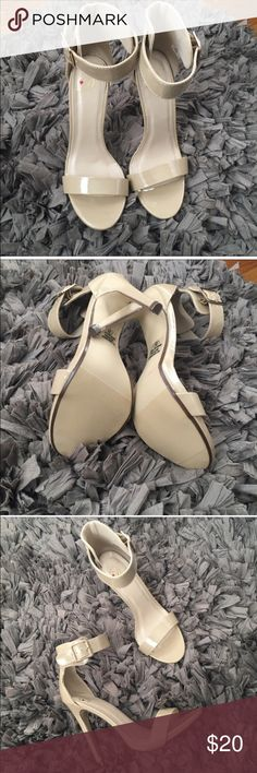 Nude Ankle Strap Heels Brand new must have in our closet! Size 8 Shoes