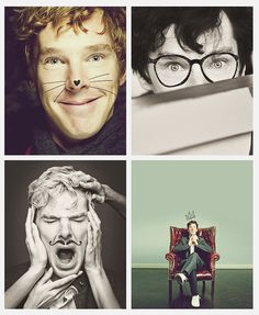 "Adorable Benedict cumberbatch.... That  Last one made me think.. ""honey you should se me on a crown!"""