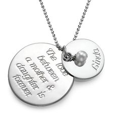 Sterling Silver Daughters Necklace for Mom...perfect. Even has my mom's name